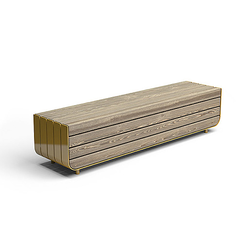 Myty - 3D Model | Stripes bench by Vestre